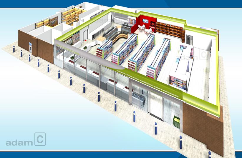 Adam retail design projects a d a m art design and for Mini market interior design ideas
